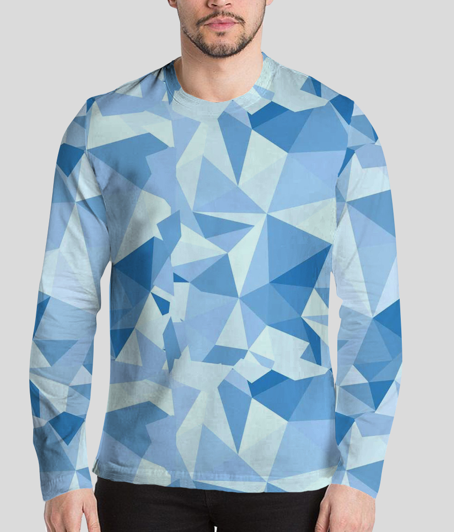 The introvert men's printed full sleeves henley