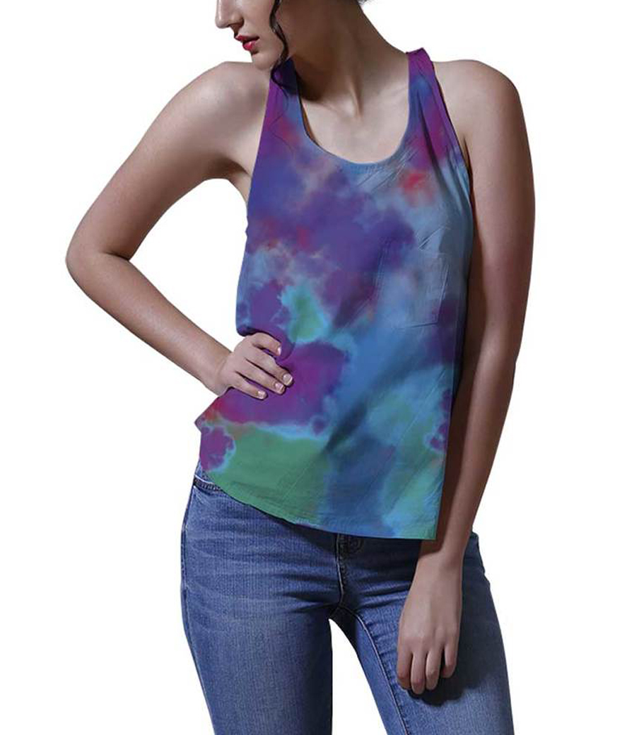Festival of colors women's printed tank