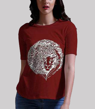 Damini womens red tee b