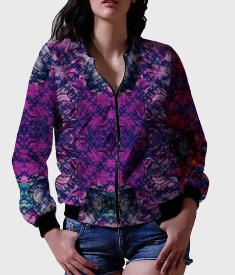 Women's printed purple front