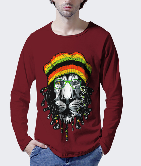 Ja the lion men's printed henley back %282%29