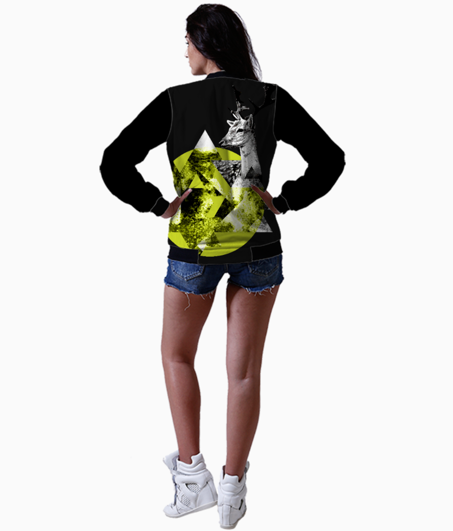 Abstract deer 4 bomber back