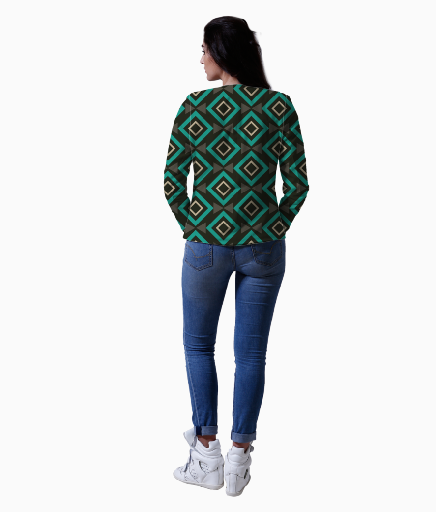 Rectangle and triangle pattern blazer back