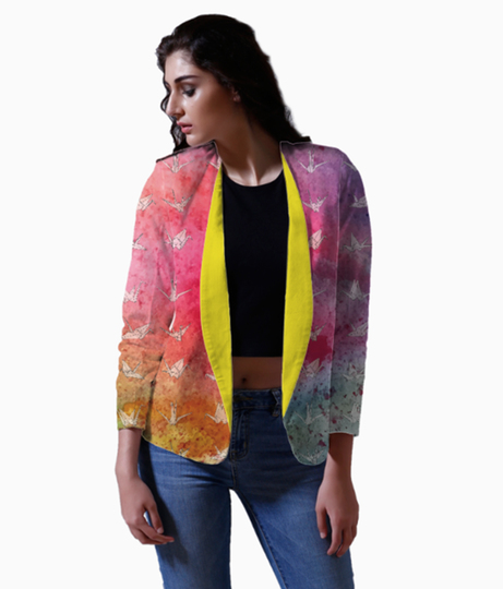 Cranes colourburst blazer front