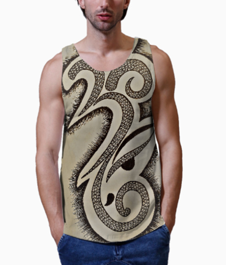 Om ganesha men's printed vest close up