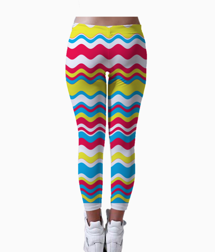 Wave leggings back