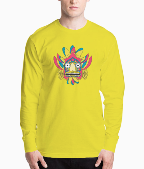 Indian tribal mask henley front