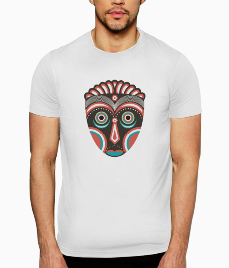 Lulua ethnic tribal mask t shirt front