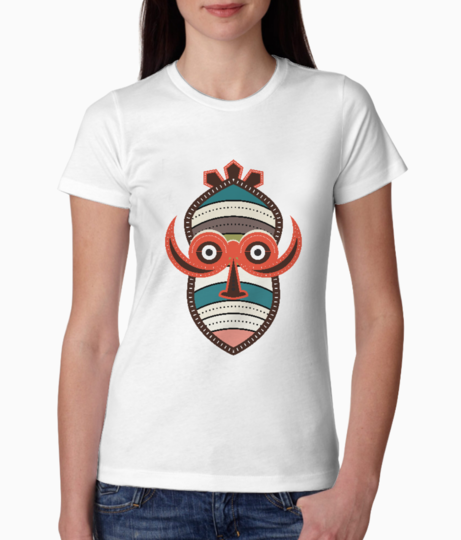African authentic tribal art tee front
