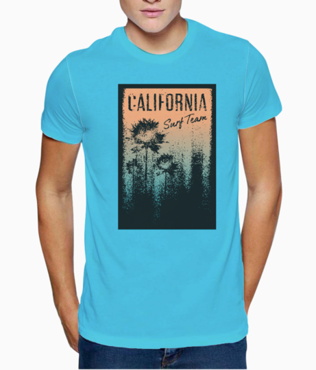 California t shirt front