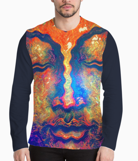 Buddha peace henley front