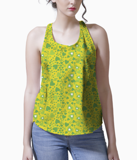 Green hearts  forever tank front