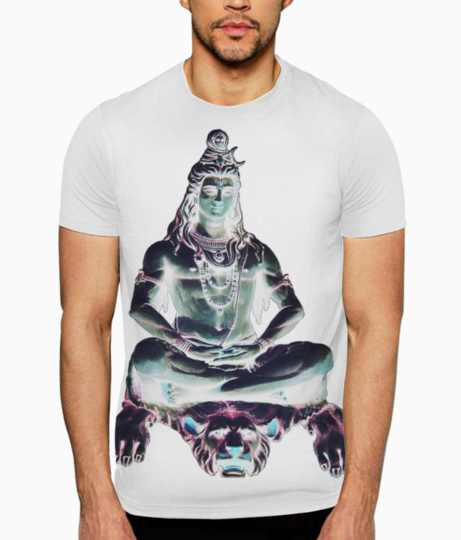 Lord shiva lion t shirt front