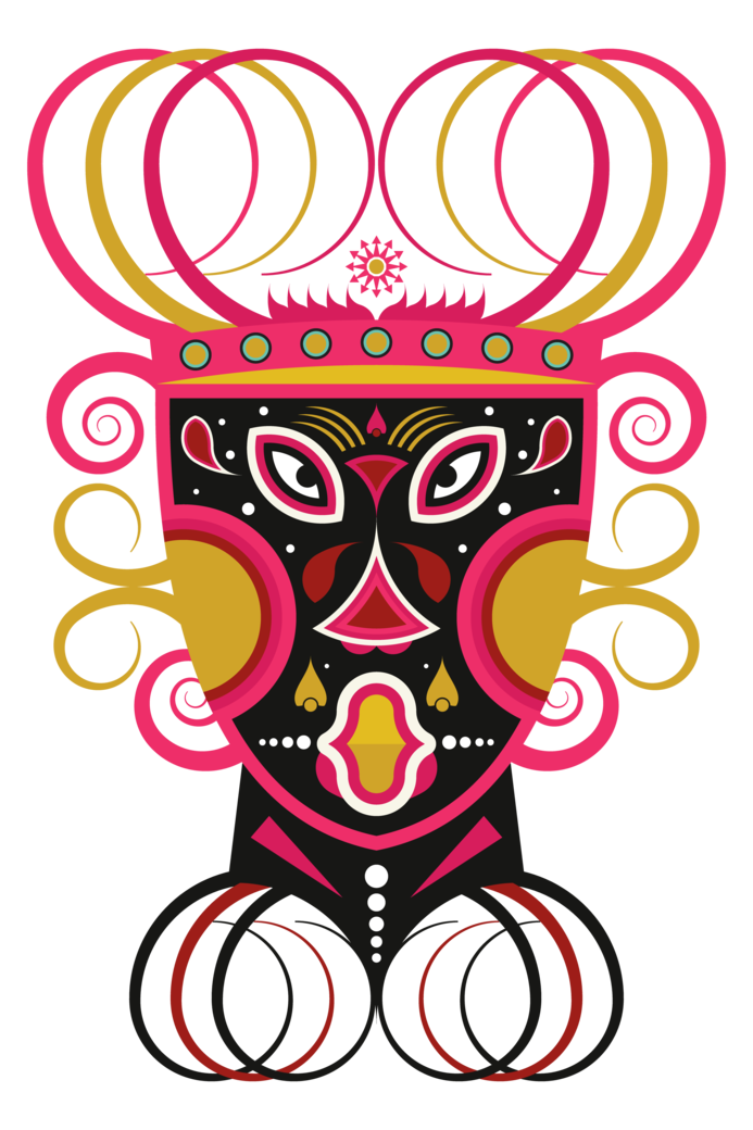 Ceremonial tribal mask