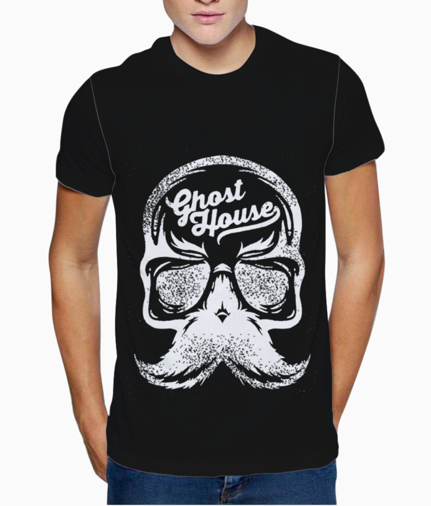 Ghost house t shirt front
