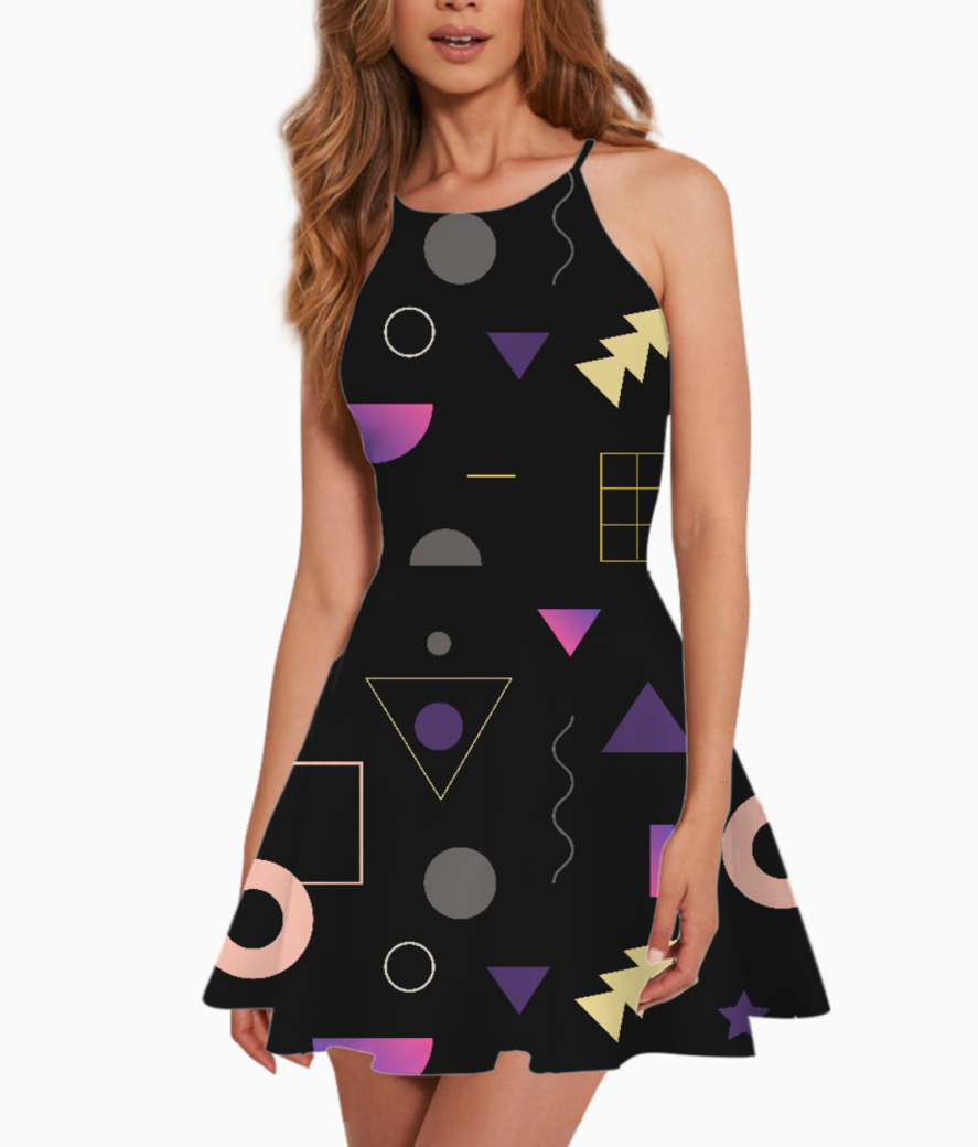 Black boxes summer dress front