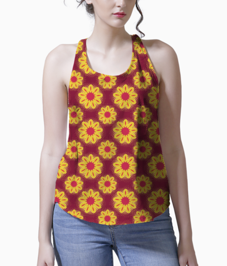 Sunflowers tank front