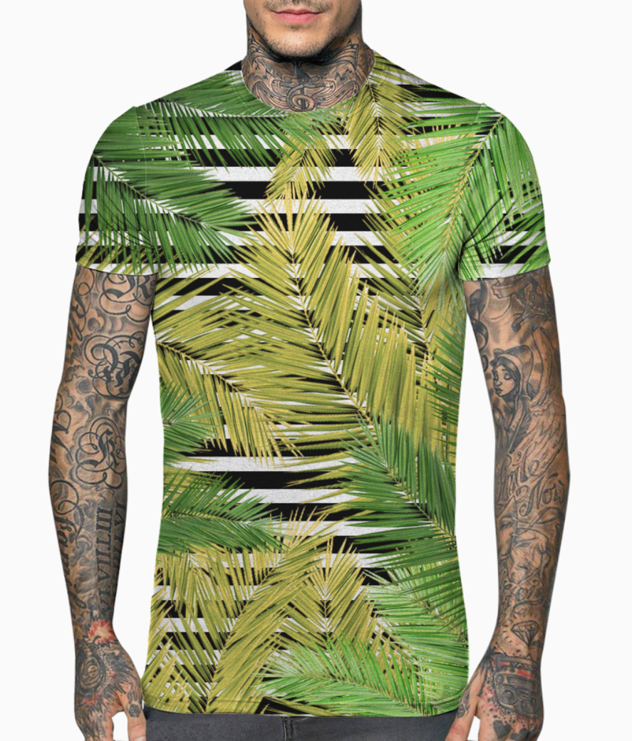 Palm leaf   1 t shirt front