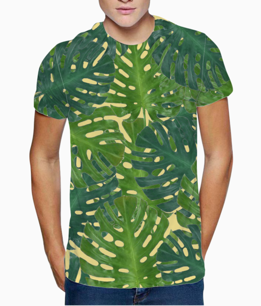 Palm leaf   2 t shirt front