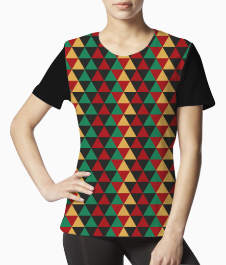 Abstract triangle art tee front