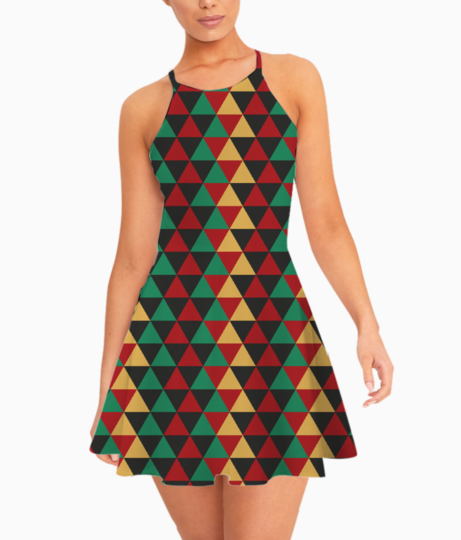 Abstract triangle art summer dress front
