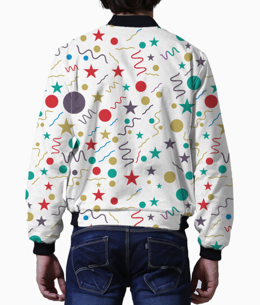 Little shapes men's bomber back