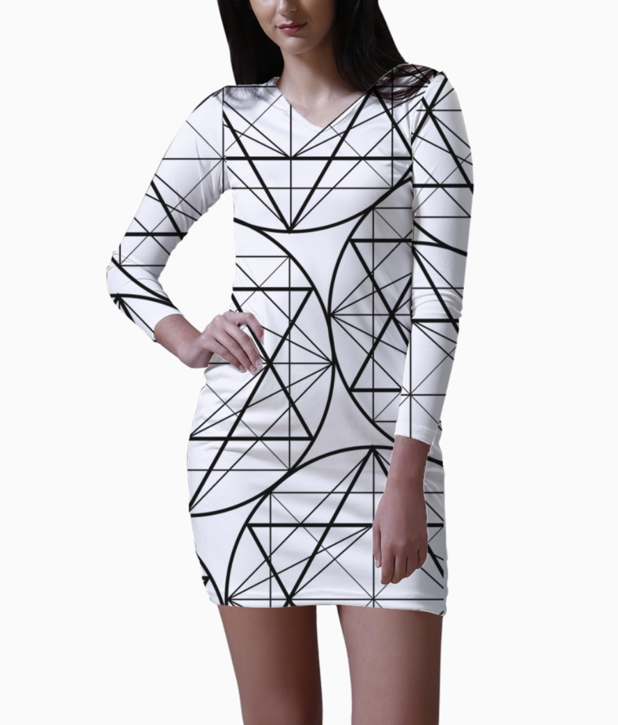 5 bodycon dress front