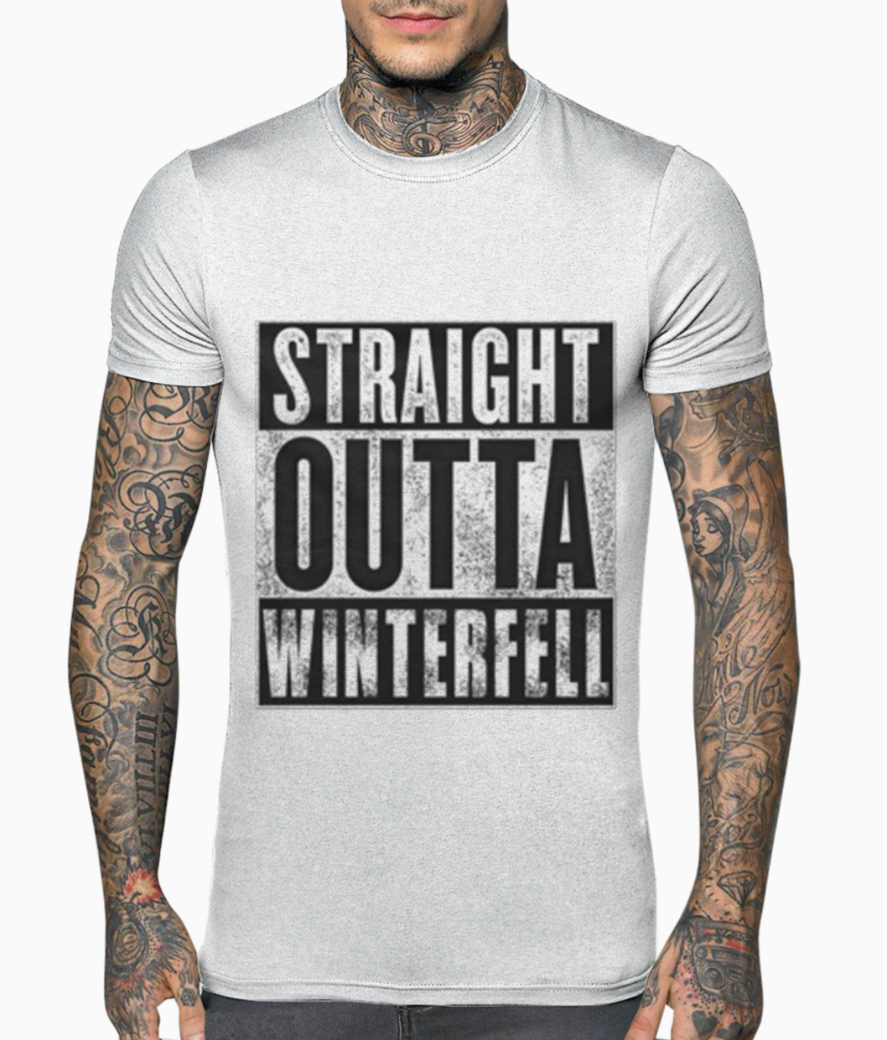 Straight out of winterfell t shirt front