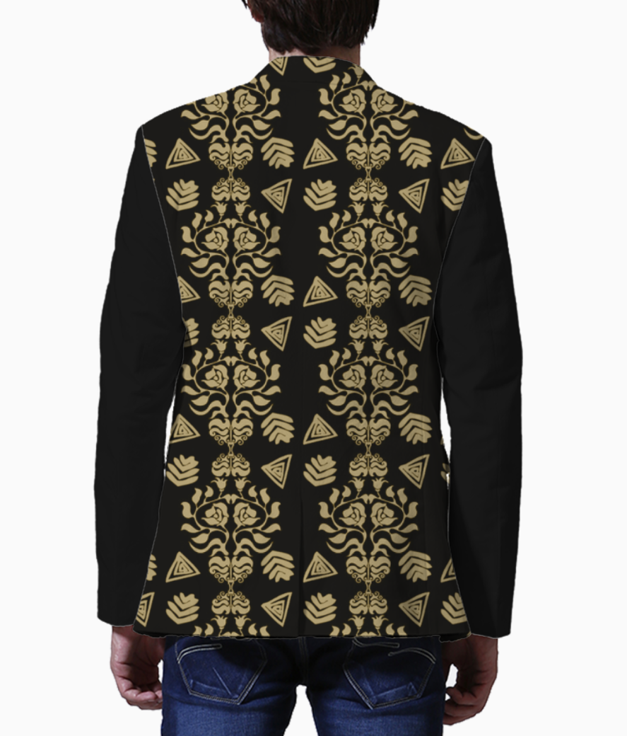 Damask men's blazer back