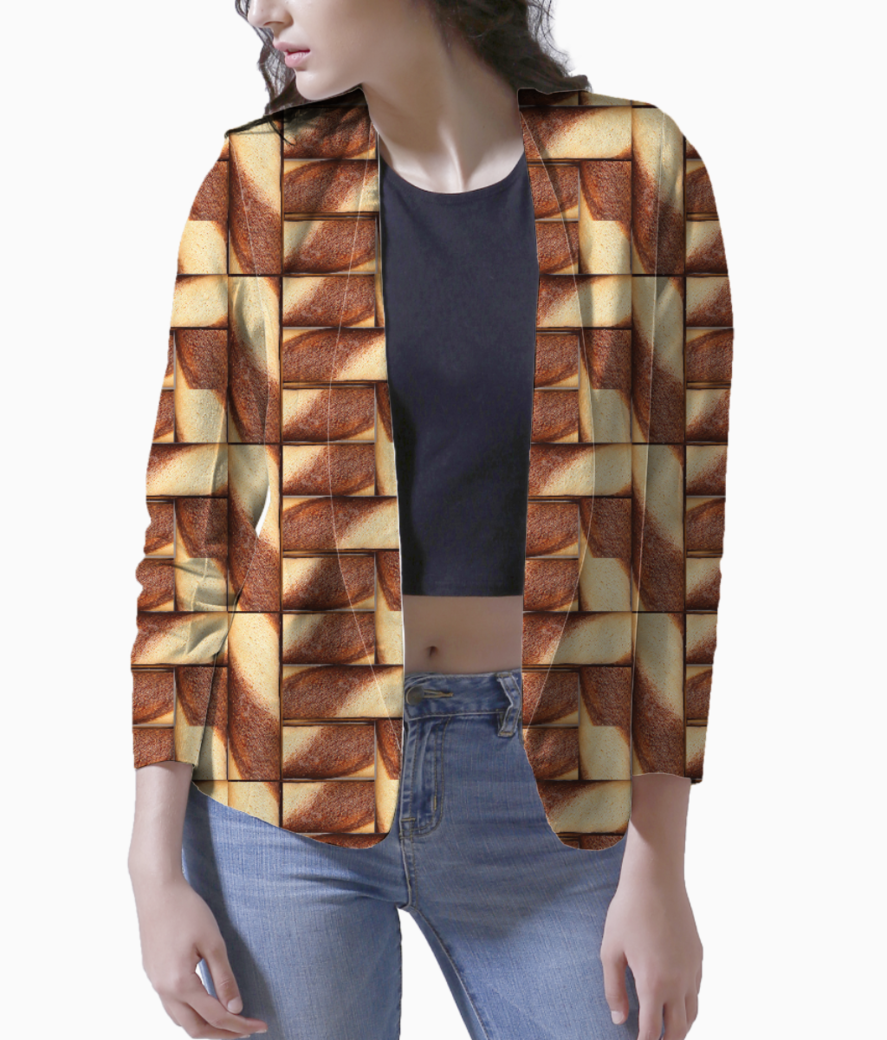 Chocolate women's blazer front
