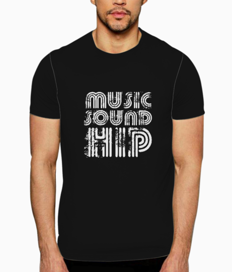 Music sound hip typography t shirt front