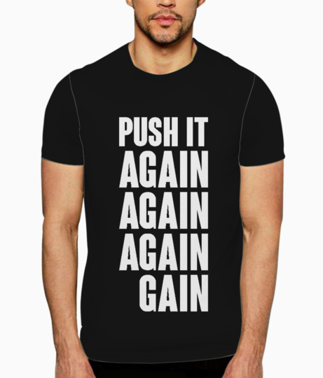 Push it again typography t shirt front
