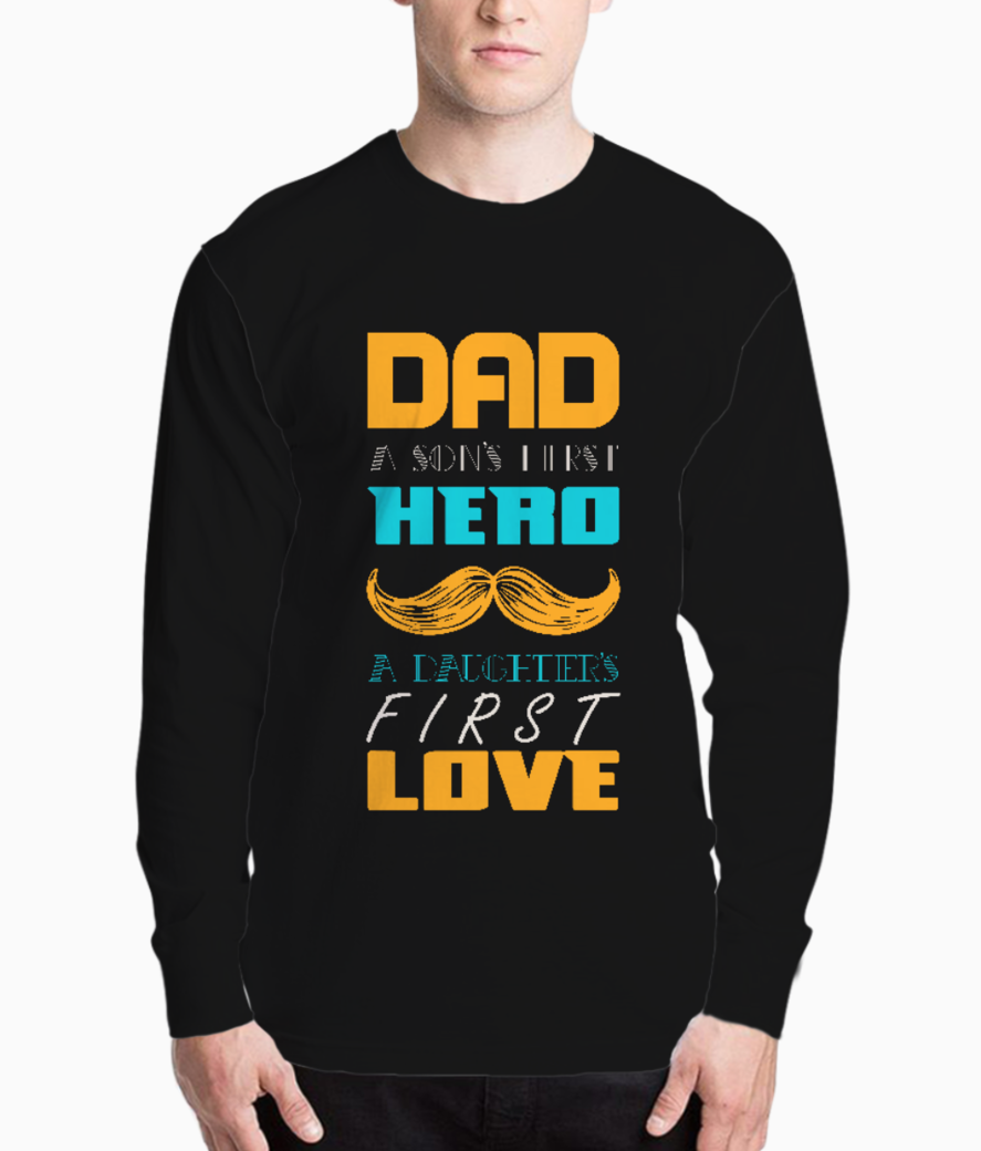 Dad a sons first hero typography henley front