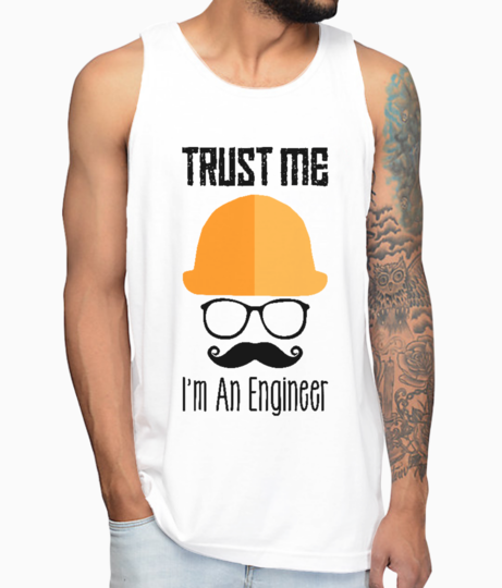 Trust me im an engineer vest front