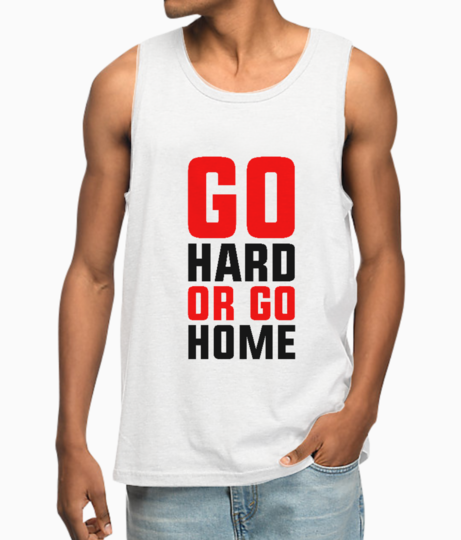Go hard or go home vest front