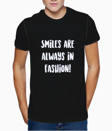 Always in fashion typography t shirt front