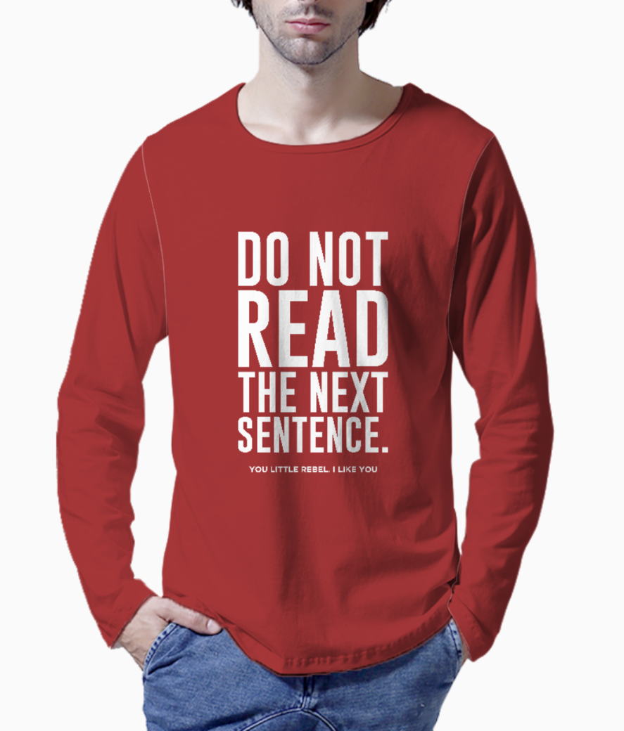 Read the next typography henley front