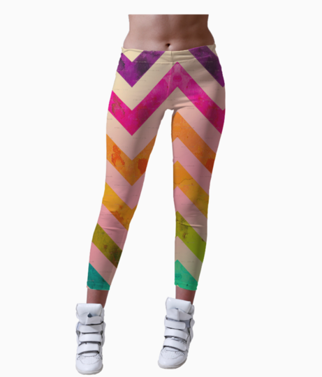 Edgy wave leggings front