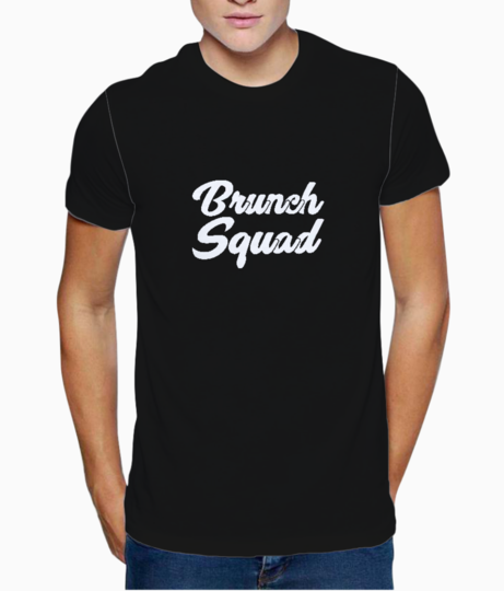 Brunch squad typography t shirt front