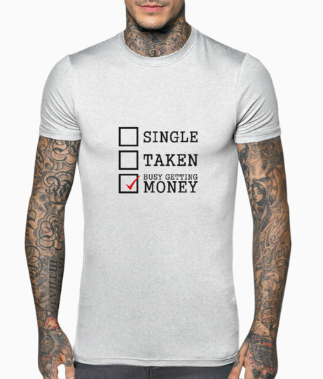 Busy getting mony typography t shirt front