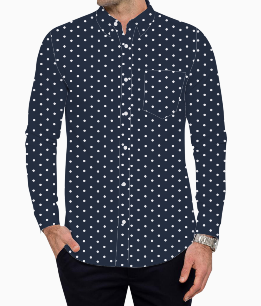 Spot dot basic shirt front