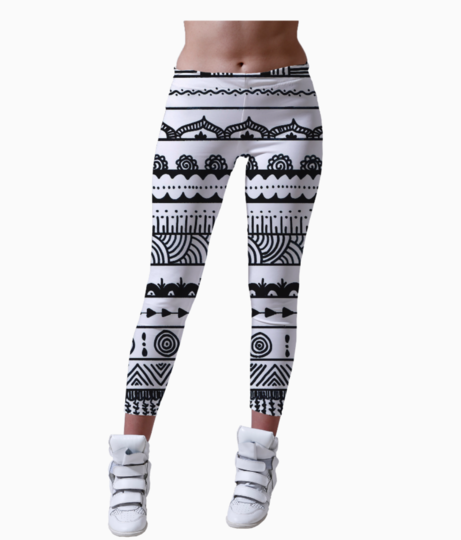 Aztec leggings front