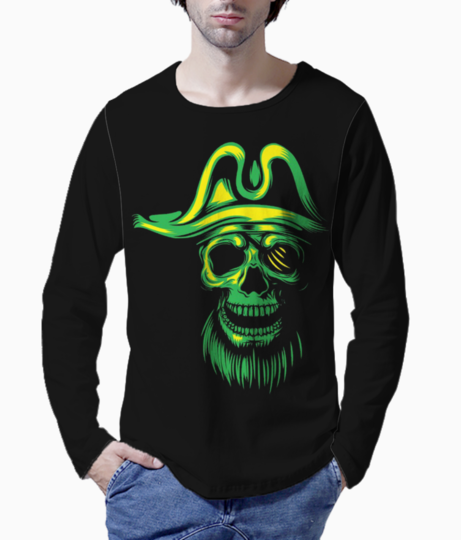 Green pirate henley front