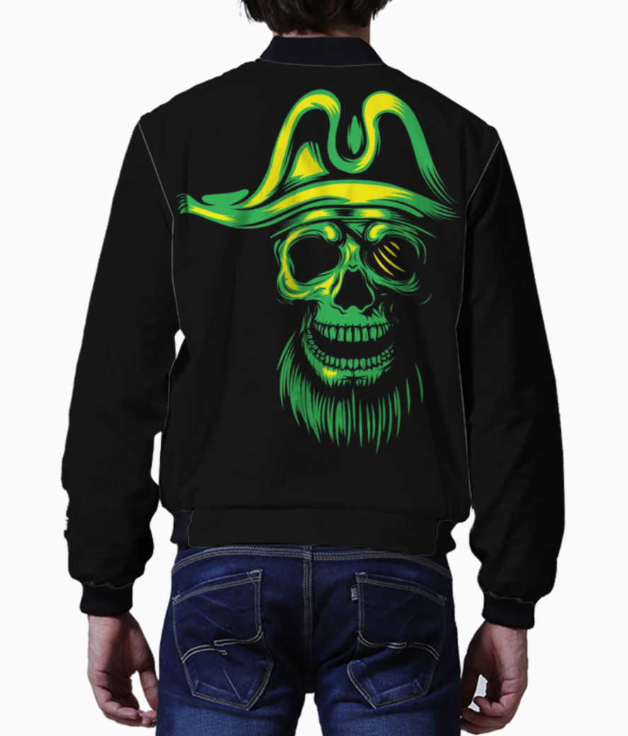 Green pirate bomber back
