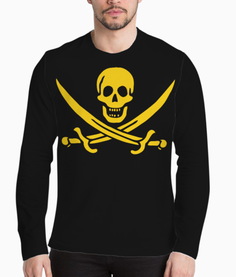 Pirate flag henley front