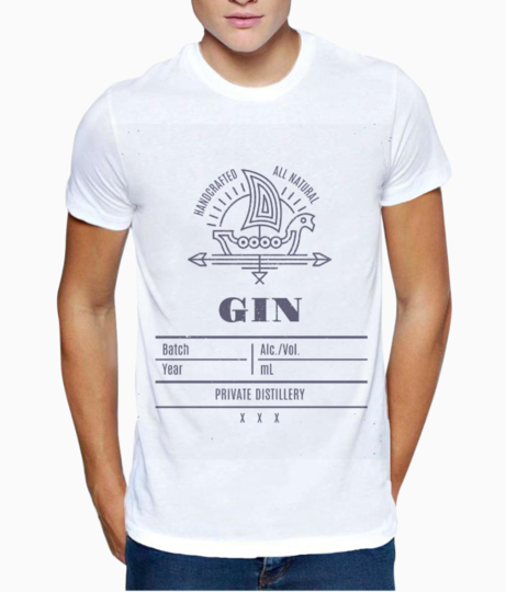 Gin full t shirt front