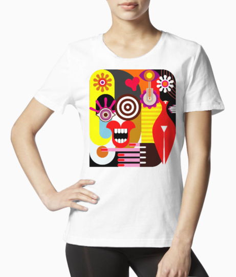 Two women tee front