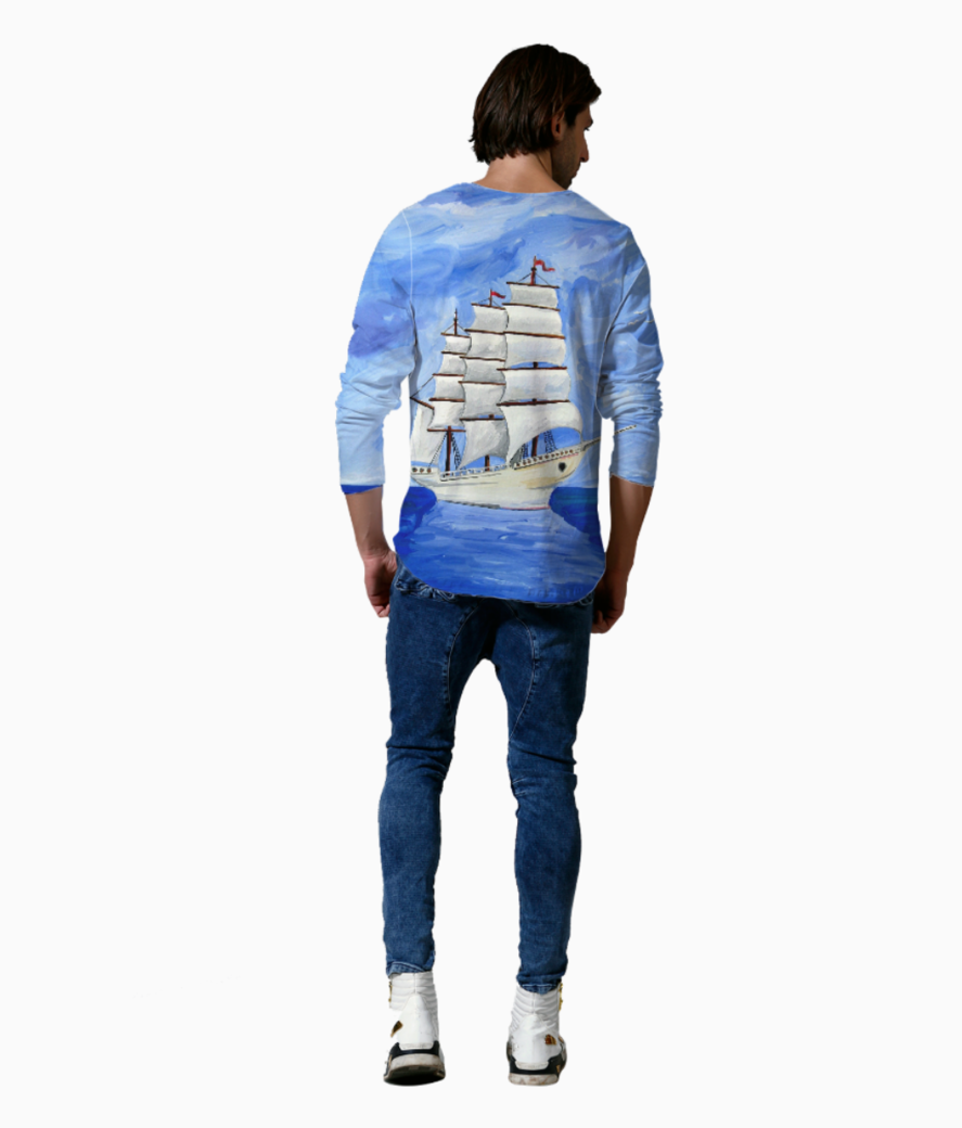 Ship painting henley back
