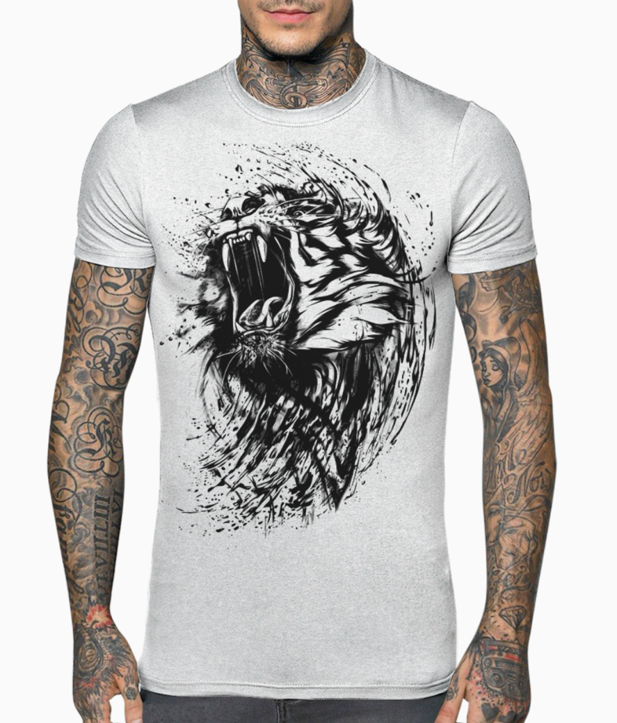 Lion sketch t shirt front