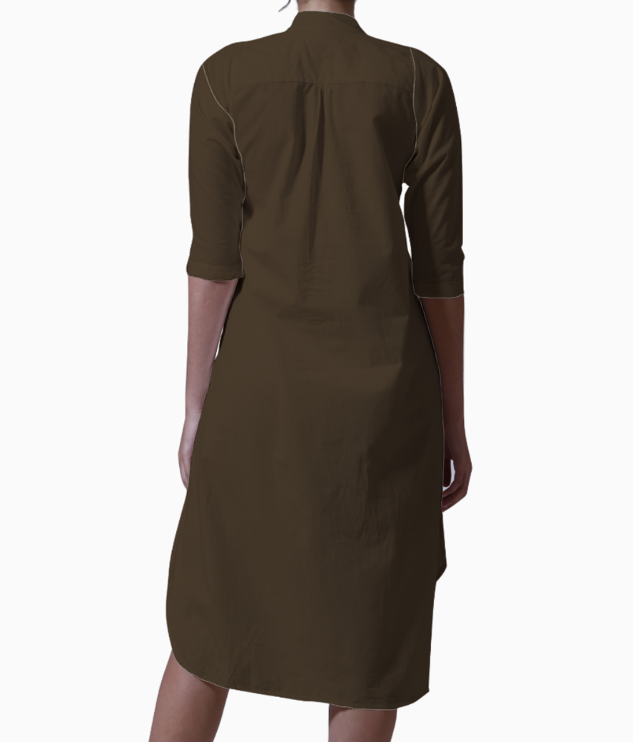 Brown giraffe kurti back